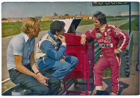 Gilles-Villeneuve-L-Jody-Scheckter-M-and-Ed-at-Ferrari-test-track-Italy
